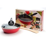 SUPRA Rosemary Stir Pan 22 cm + Glass Lid + Wooden Spatula [RMSP22+]